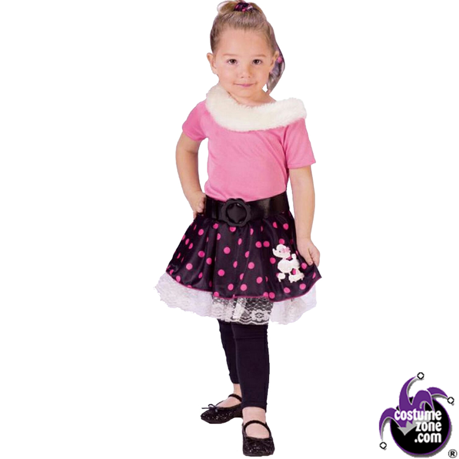 Halloween Costumes | Halloween Poodle Dog Skirt and Costume (Girl - Toddler Large)